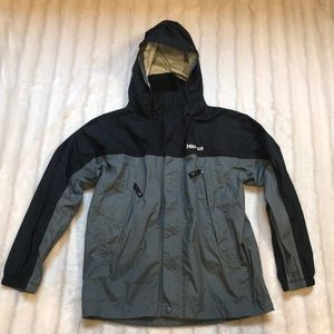 Marmot Black/charcoal rain coat, size medium.